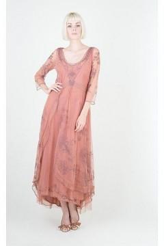 Nataya 40163 Downton Abbey Tea Party Gown Cinnamon