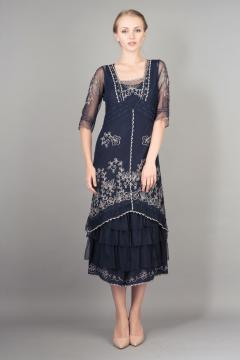 Nataya Titanic Dress AL-2101 in Sapphire - SOLD OUT