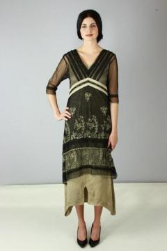 Nataya 5901 Titanic Dress in Black/Silver