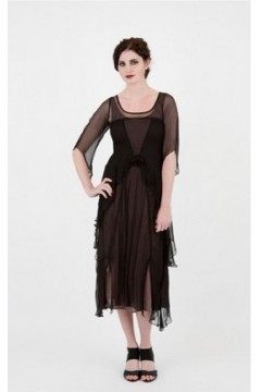 Nataya 10709 Black/Coco 1920s Dress