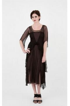 Nataya 10709 Great Gatsby Dress in Black/Coco - SOLD OUT