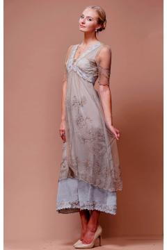 New Vintage Titanic Dress in Sand-Silver by Nataya