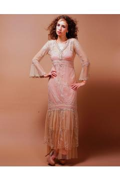 Titanic Wedding Dress in Pink/Champagne by Nataya