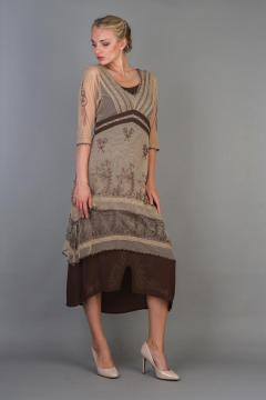 Nataya Titanic Dress 5901 in Milk Coffee