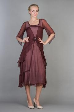 Nataya 10709 Great Gatsby Dress in Garnet