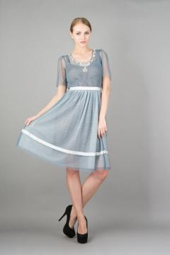Nataya 212 Blue Diamond Vintage Party Dress in Blue
