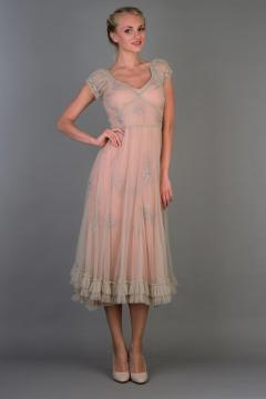 Nataya 40193 Ballerina Party Dress in Antique Pink