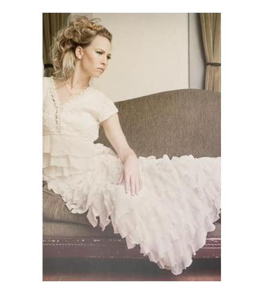 Frilled Vintage Bride Dress Nataya 40022
