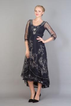 Nataya Downton Abbey Dress 40163 in Sapphire