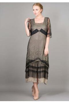 Nataya AL-2101 Titanic Dress in Black/Silver
