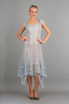 Nataya 5634 Romantic Dress in Blue