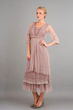 Nataya 40240 Art Deco Gatsby Dress in Amethyst