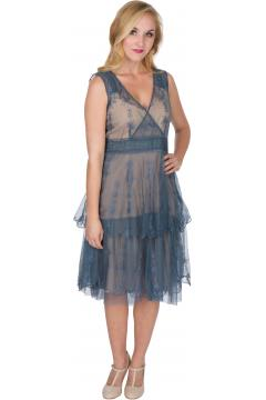 Nataya AL-235 Party Dress in Sapphire