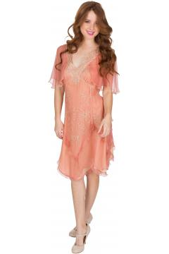 Nataya AL-241 Party Dress in Rose/Gold
