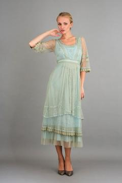Nataya 40240 Art Deco Gatsby Dress in Sage
