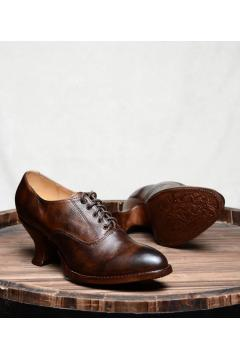 Victorian Style Shoes in Teak Rustic