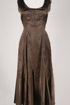 AL-6106 Old Hollywood Taffeta Dress