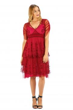 Nataya AL-237 Party Dress in Raspberry
