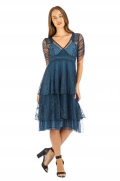 Nataya AL-237 Party Dress in Indigo