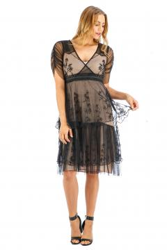 Nataya AL-237 Party Dress in Onyx