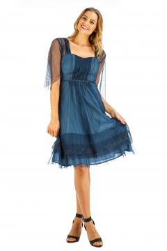 Nataya AL-245 Party Dress in Indigo