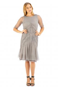 Nataya AL-429 Party Dress in Stone