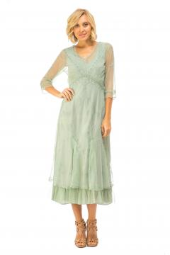 Nataya Somewhere in Time Dress in Moss