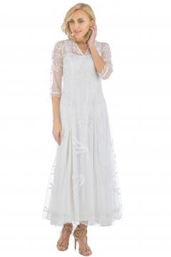 Nataya CL-2149 Vintage Style Wedding Dress in Ivory