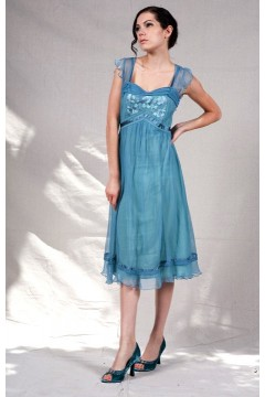 Vintage Style 1920s Flirty Summer Dress