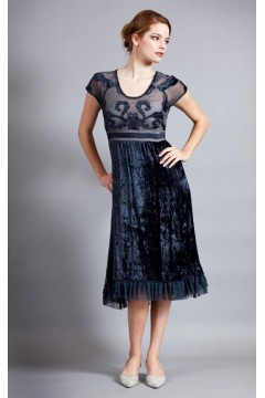 Roaring 20s Velvet Party Dress