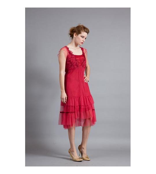 A red dress for the summer type