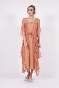 Nataya 10709 1920s Wedding Dress Rose Gold