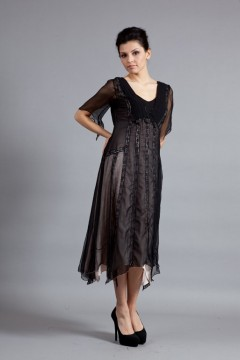 Romantic Flutter Sleeve Gown