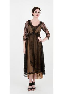 Nataya 40163 Downton Abbey Tea Party Gown Black