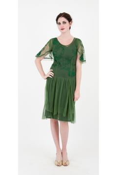 Nataya 40160 Emerald 1920s Cocktail Dress