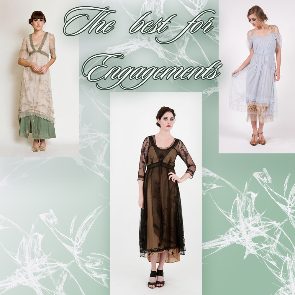 Top 7 vintage style dresses for the engagement parties