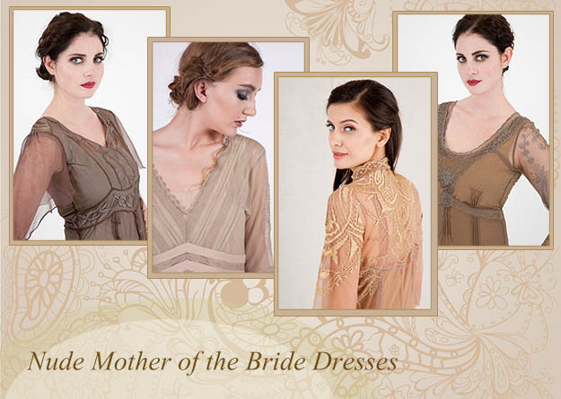 Nude Mother of the Bride Dresses