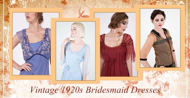 Vintage 1920s Bridesmaid Dresses