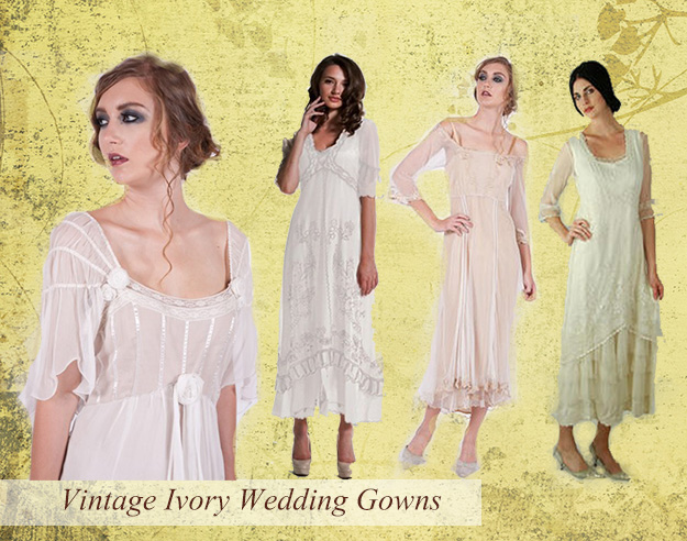 Vintage Ivory Wedding Gowns